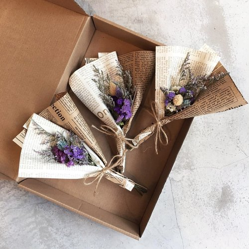 """Wannabe"" mini dry bouquet ""buy three get one"" - Wenqing sense of graduation gift table decoration eternal flower gift cotton wedding arrangement rabbit rabbit dried bouquet gift wedding small things lavender Tanabata P18"