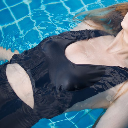 "swimwear - collection ""mousse"" / black / size m"