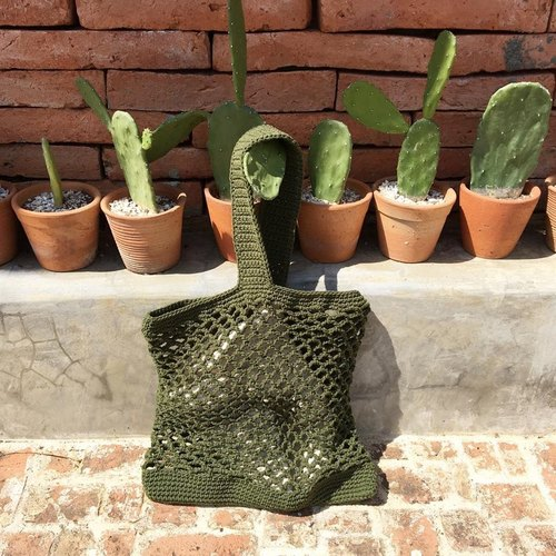 Dark green Japia bag