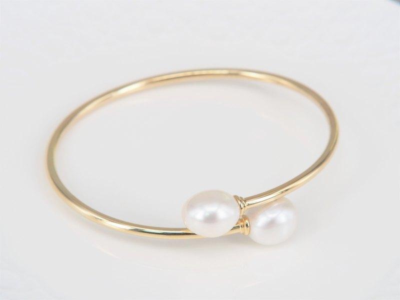 謎漾 | 天然珍珠手環 / 11-12mm淡水珍珠 *復古典雅