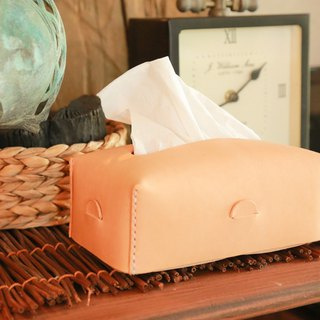 Lantern Handstitched Leather Tissue Case, Personalised, Car Products, Minimal
