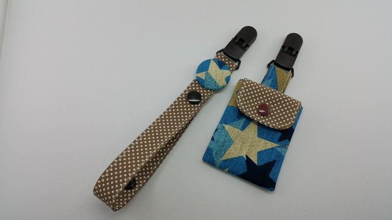 Retro Cowboy Star Miyazaki Peaceful Character Bag Clip + Nipple Clip Chain / Two-tone Edition