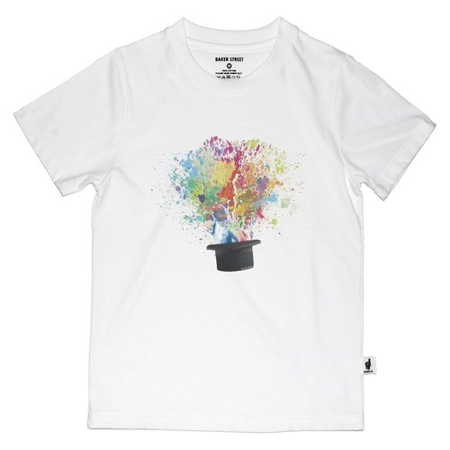 British Fashion Brand [Baker Street] Magic Hat Printed T-shirt for Kids