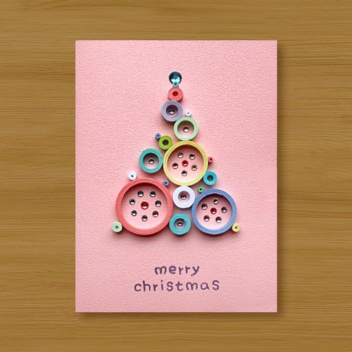 Handmade Roll Paper Christmas Card _ Blessings from afar ‧ Dream Bubble Christmas Tree _G