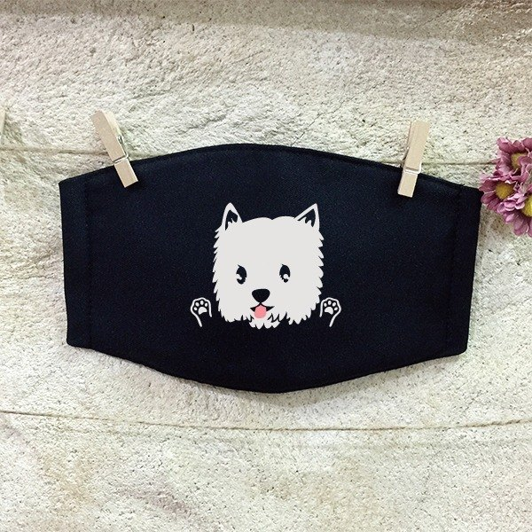 [NINKYPUP Reflective Mask] West Highland White Terrier