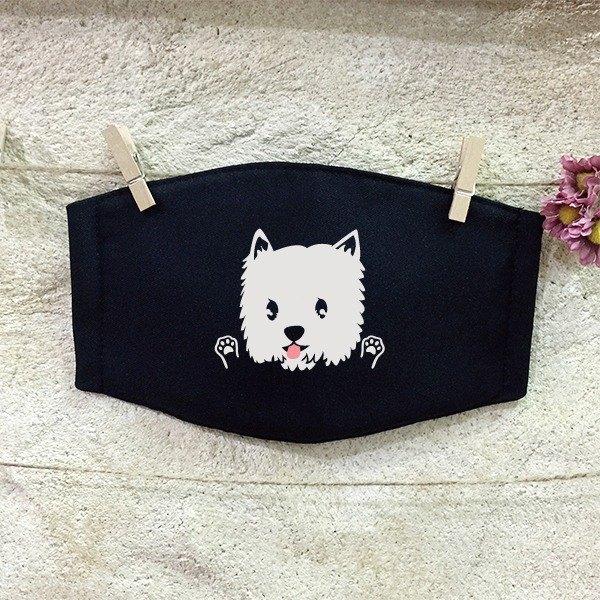 反光口罩 透氣棉布口罩 西高地白㹴 West Highland White Terrier