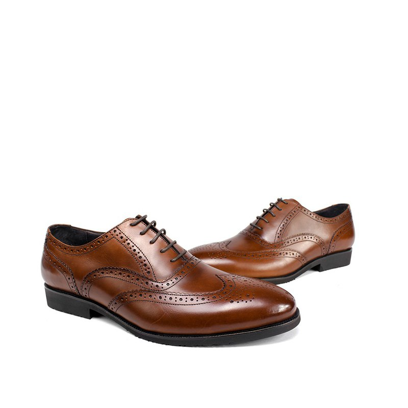 Sixlips British wing full carved Oxford shoes coffee