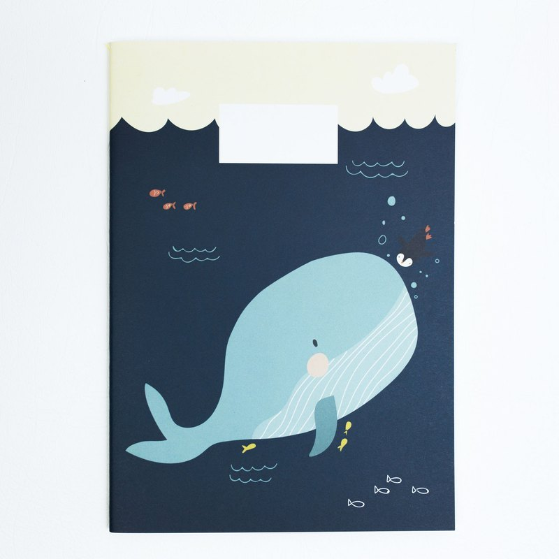 A5 NOTEBOOK - WHALE OF A TALE - Designer xhundredfold  4b0a9be25066