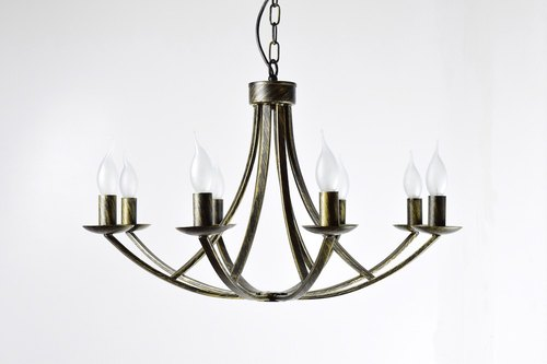 BNL00093- retro iron anchors 8 light chandelier