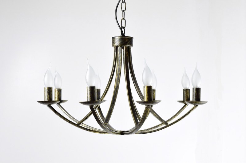 Vintage iron anchor 8 light chandelier
