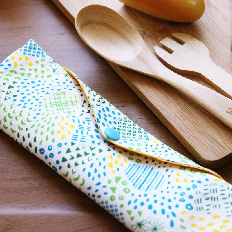 Green wind chopsticks chopsticks bag ~ love blue storage bag. Green chopsticks bag