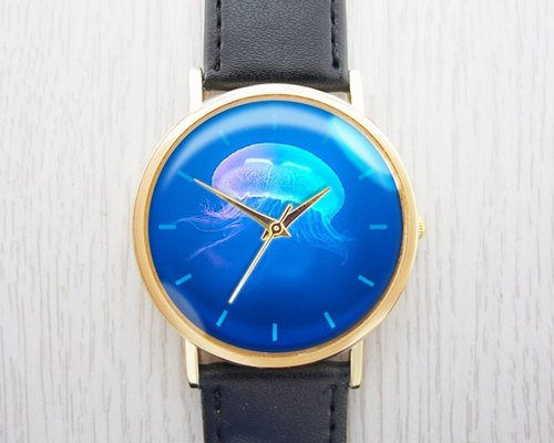Penghu jellyfish - fashion leather strap watch ︱ ︱ ︱ men and women popular to wear with the best holiday gift items