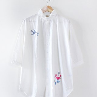 Daylight embroidery cotton long version of the shirt