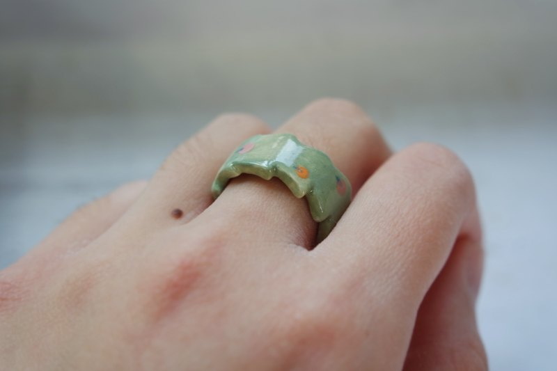 Apple trees trees ceramic ring ring