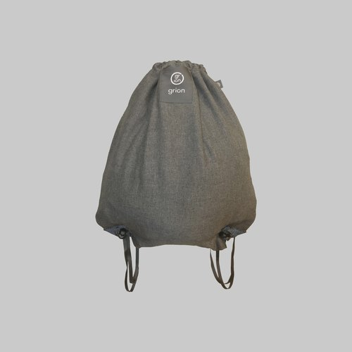 grion bag - back section (L) Ma gray