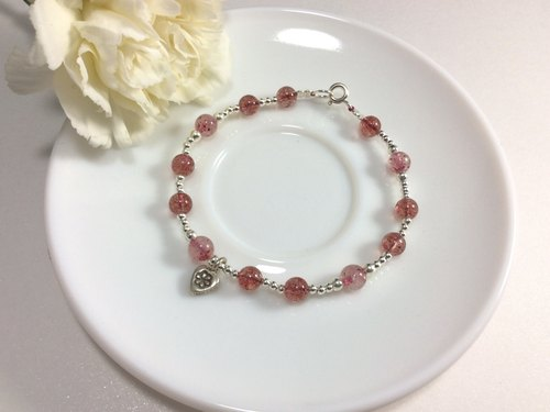 Ops Strawberry Crystal silver bracelet