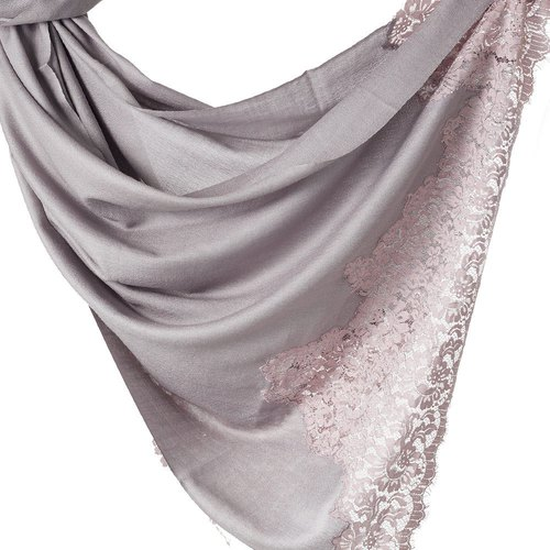 [ANGEL WOOLEN] Indian handmade French lace shawl scarf (Treasure Collection)
