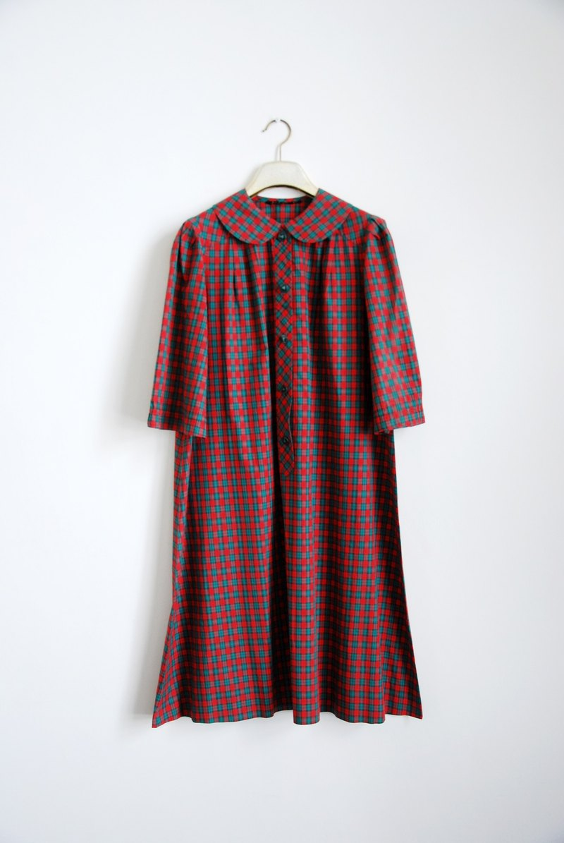 Plaid vintage doll dress