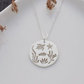 Ni.kou sterling silver underwater world necklace
