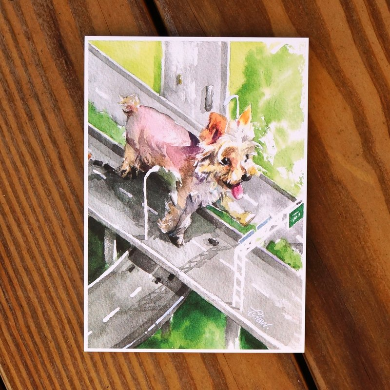 Watercolor Painted Baby Series Postcard - Canine Sambo