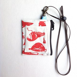 Design No.DF183 - 【Deep Sea Fish Pattern】Card Holder Purses