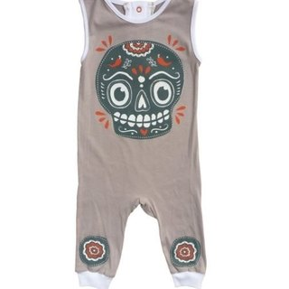 Mexican skull skull sleeveless jumpsuit