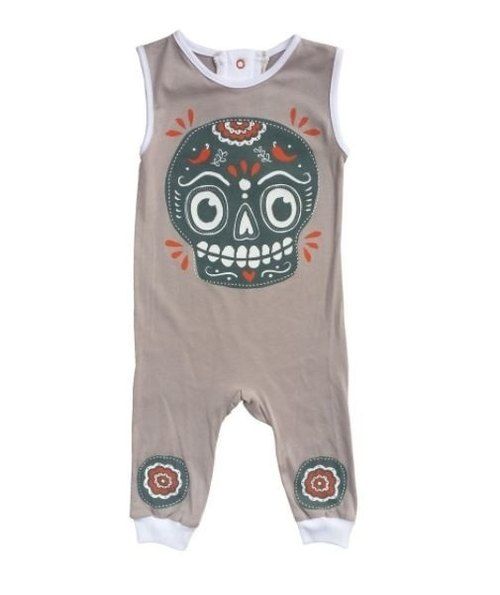Mexico skull sleeveless jumpsuit