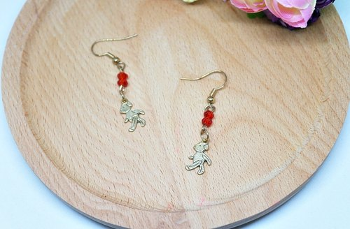 * Walker Bear * _ alloy hook earrings ➪ Limited X1 # # # exchange Christmas gifts #