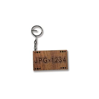 Carved wooden keychain - Customized car keychain -  Rosewood