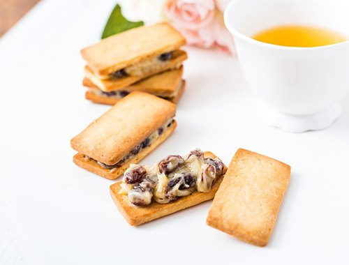 [Leaine French handmade dessert] thick line - Lamb grape cream sandwich cookies -10 into / group # exclusive special stuffing stuffing # rich French rum flavor