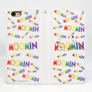 "Moomin Moomin genuine authority - Magnetic phone holster: [Moomin Family (white)] ""iPhone / Samsung / HTC / ASUS / Sony"""