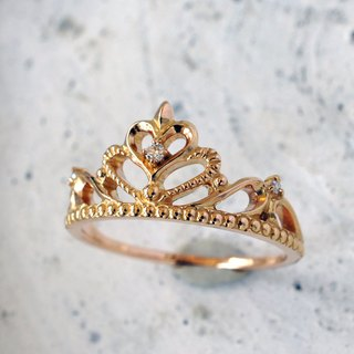 Tiara Ring (Heart · K18PG)