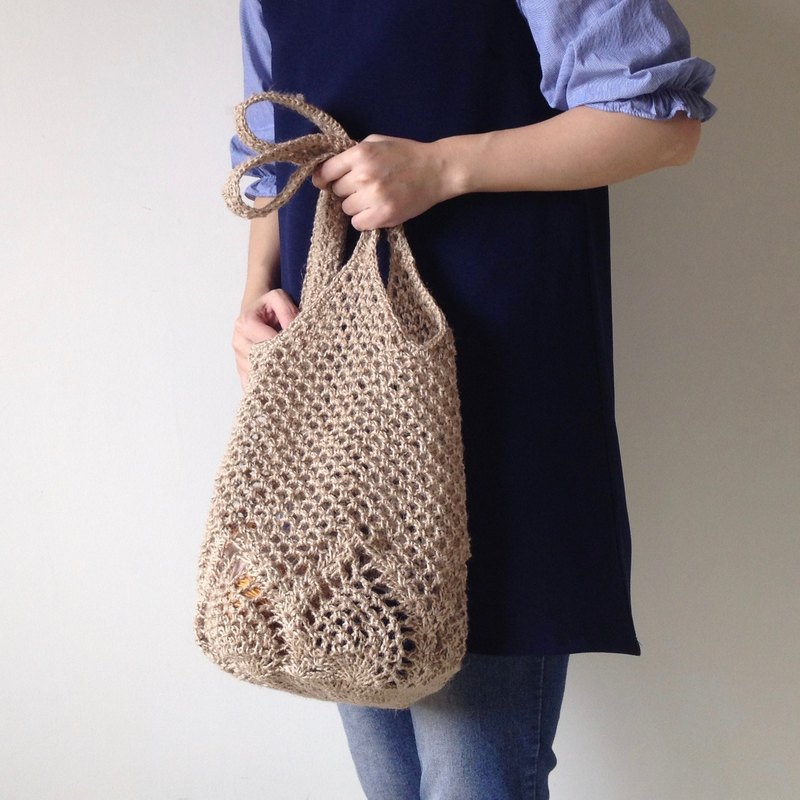 Xiao fabric twine hand-woven mesh bag pineapple flower