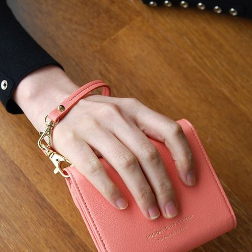 Plepic Journey Holiday Double Buckle Leather Hand Wrap (Wristbow) - Coral Pink, PPC92863
