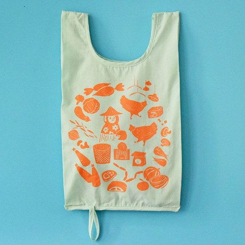 Can be rolled small vest bag / vegetable market / turnip orange