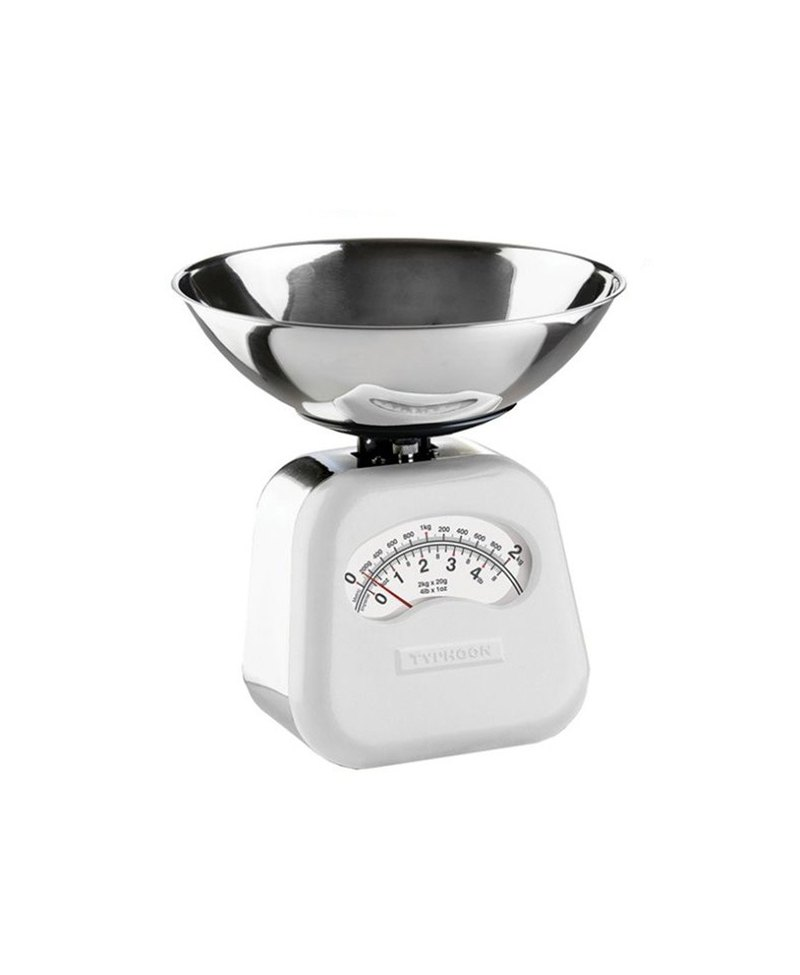 British Rayware industrial wind retro NOVO arc shape 2 kg kitchen mechanical scale (white)