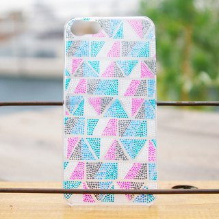 One hand-painted smart case (geometric pattern) in the world