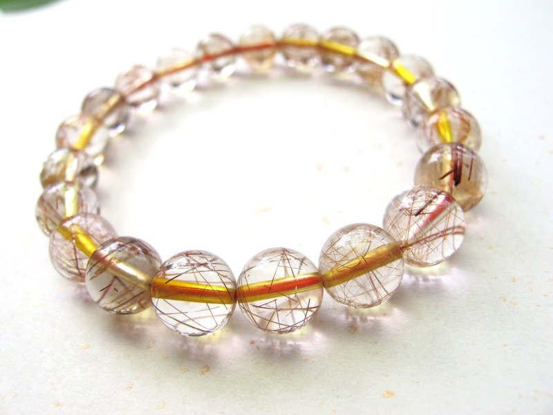 Copper Crystal】 【9mm copper crystal hair - Handmade natural stone series