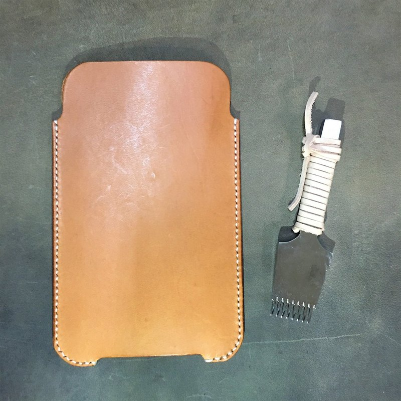 Hin window leather art - handmade leather - Iphone7 + cell phone sets cell phone bags hand-made vegetable tanned chrome tanned customized custom Wen-ching