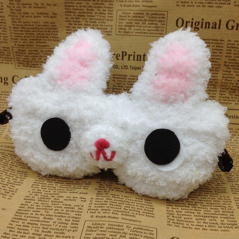 棉花糖動物眼罩-白兔