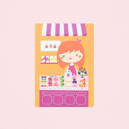 [Girls and Their Shops] emily's dessert shop - Postcard