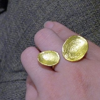 Twins _ copper ring