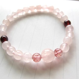 [Cranberry] Crystal x x Crystal Pink x Pomegranate - Handmade natural stone series