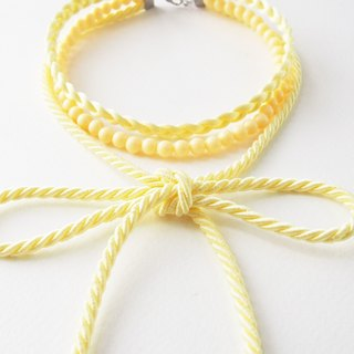 Light yellow three layers choker