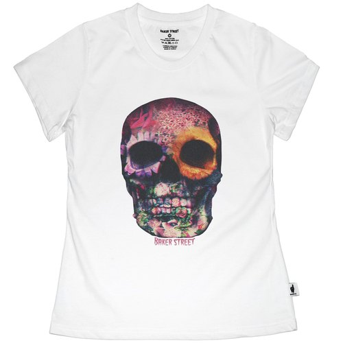 British Fashion Brand [Baker Street] 3D Skull Printed T-shirt