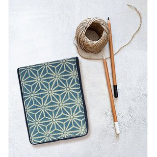indigo block printing notepad / journal sketchbook handmade