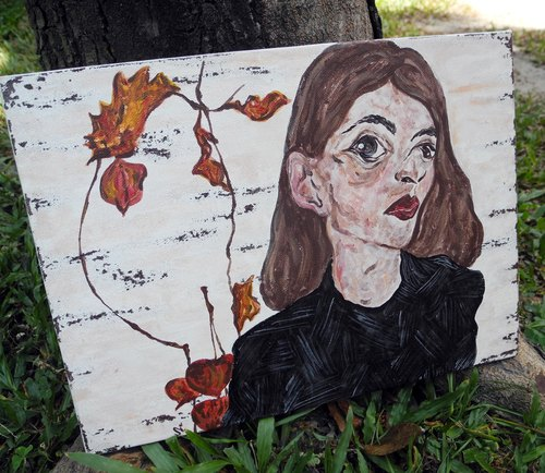 PuChi / Self-Portrait / autumn / Si / Original paintings
