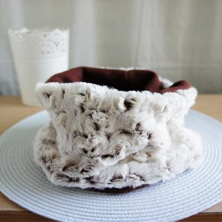 Lovely small rose fluff inside brush neck scarf double-sided available, snowy season, winter goods