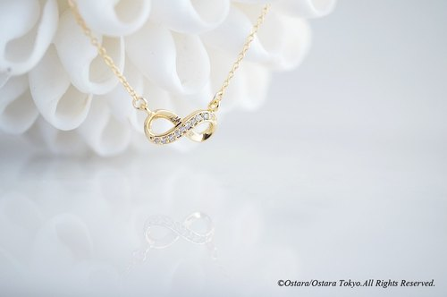 [14KGF] Necklace, Infinity LOVE