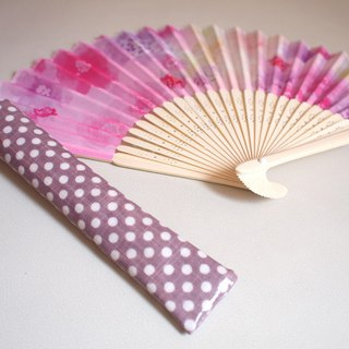 Hiya Lohas. Cool fan set - pink watercolor flower (last group)